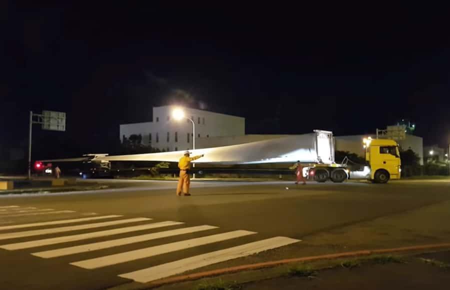 Vestas wind turbine transportation and installation
