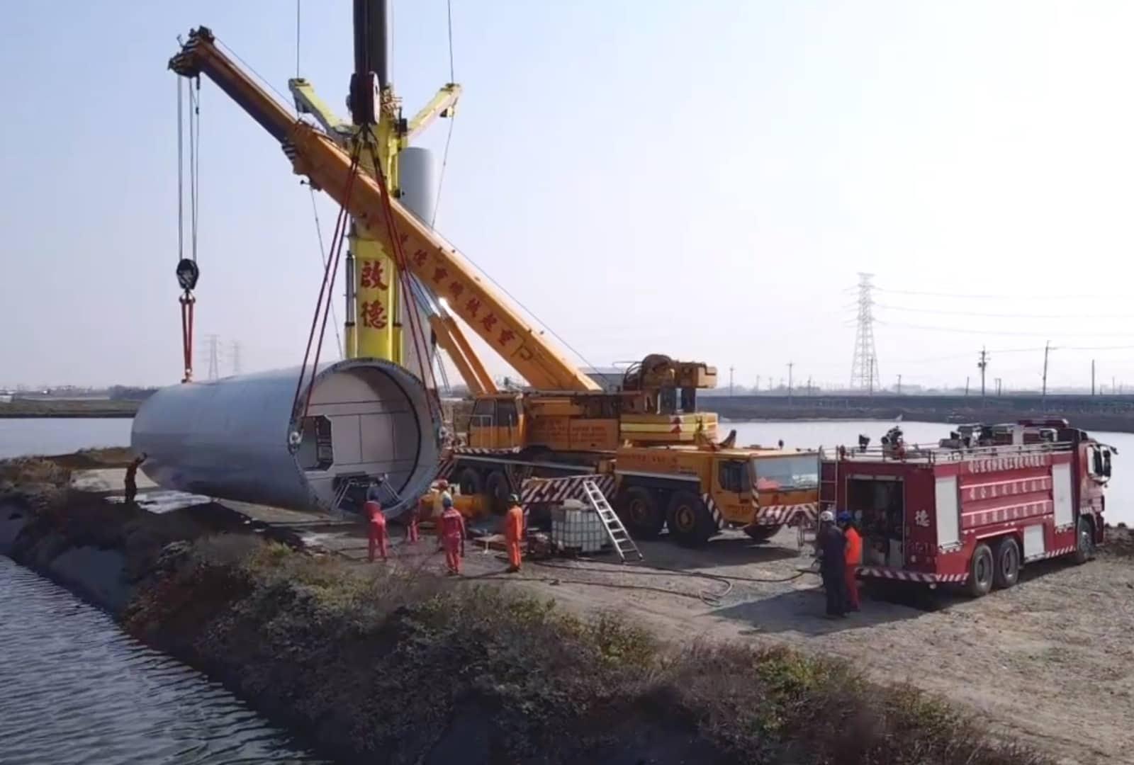 Mailiao Chuangwei Wind Turbine Installation V117